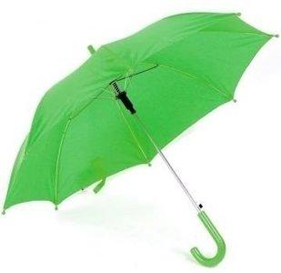 groene doorzichtige kinderparaplu
