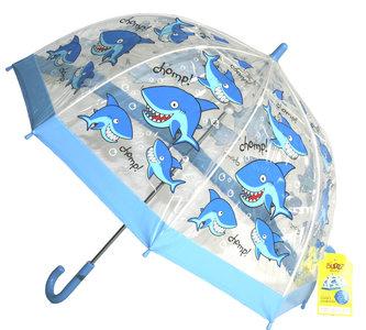 Bugzz doorzichtige kinderparaplu Haai